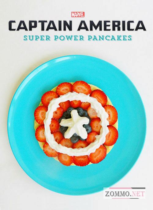 "Блинчики с фруктами ""Капитан Америка"" (рецепт с фото)"