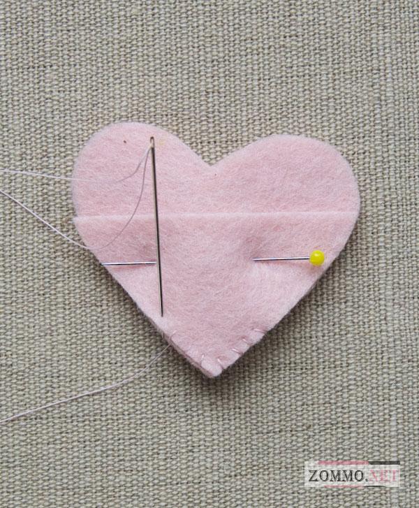 Заготовки для сердца из фетра
