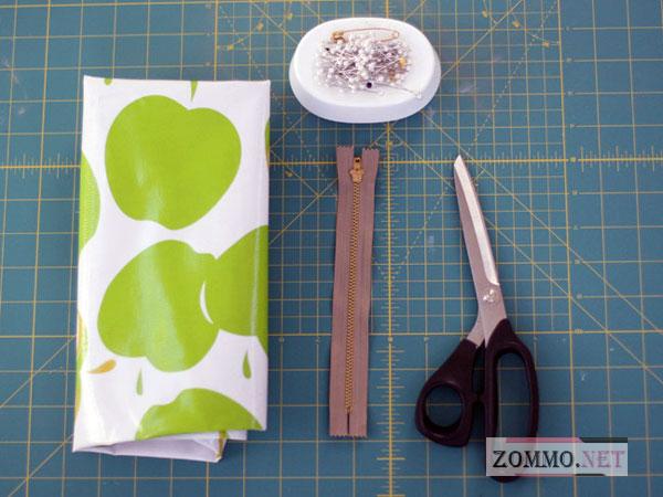 Инструменты и материалы для шитья пенала
