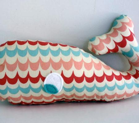 Подушка - игрушка кит своими руками