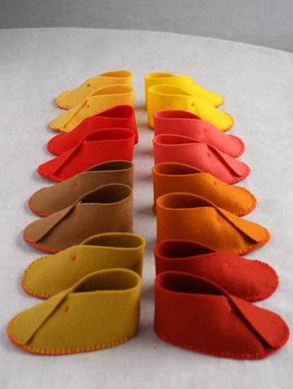 Обувь из фетра