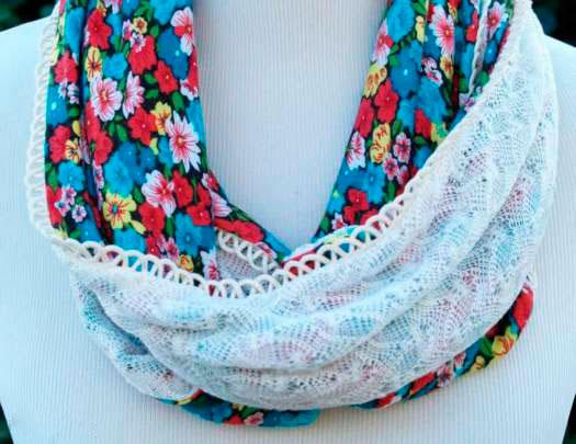 Цветной шарф