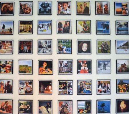 Креативный коллаж из фотографий на стену