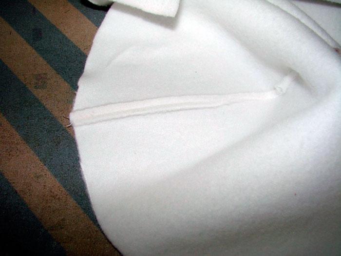 Скрепляем 2 кусочка ткани