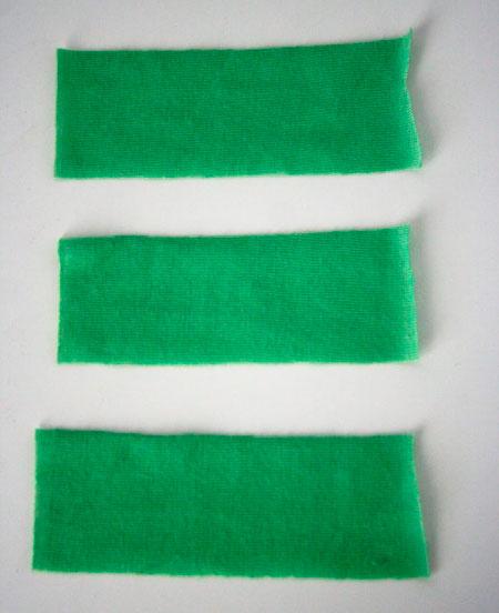 Полоски ткани джерси