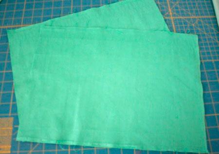 Выкройка подушки из мягкой ткани