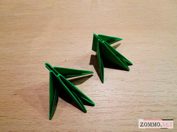 Оригами модули для елки