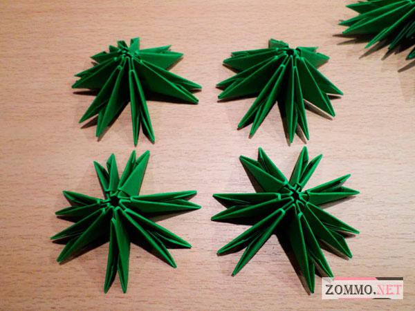 Модульное оригами для елки