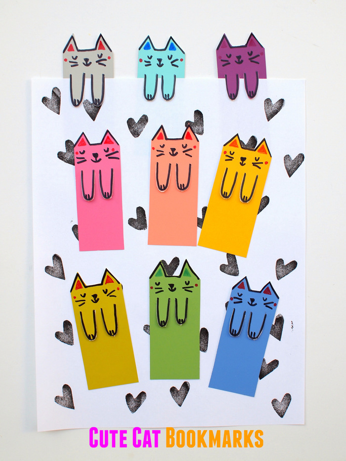 Закладки в виде котиков