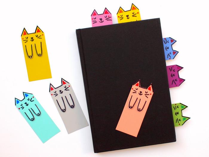 Книжные закладки в виде котиков
