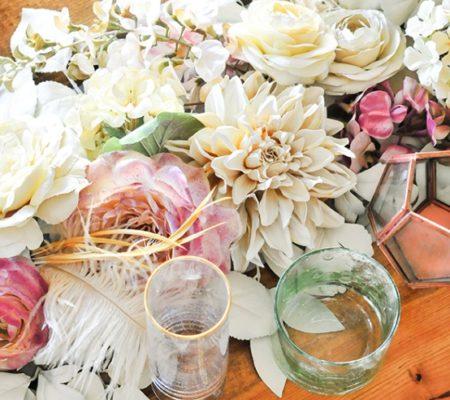 Дорожка на стол из цветов