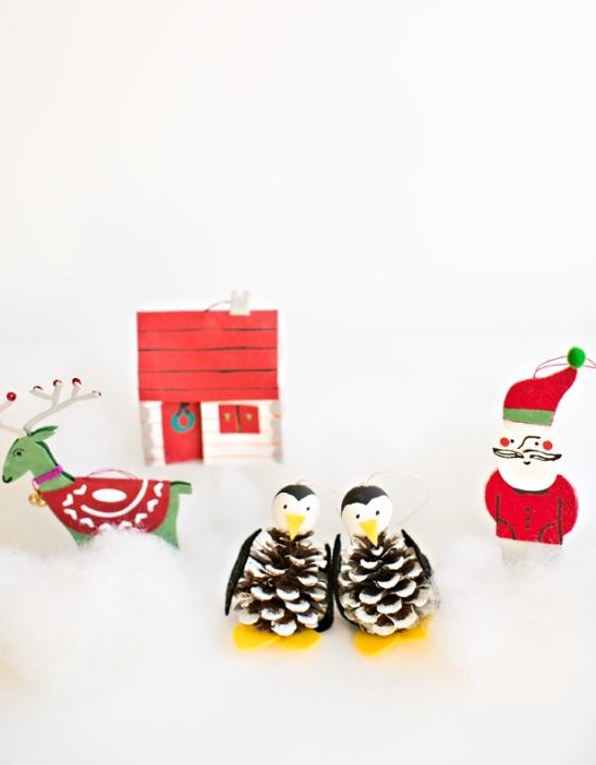 Пингвины из шишек 1