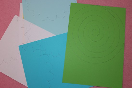 Гирлянда из бумажных цветов 3