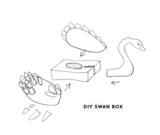 Коробка для мелочей Чёрный лебедь 3