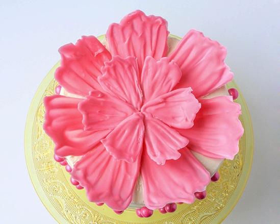Шоколадные цветы для украшения торта 10