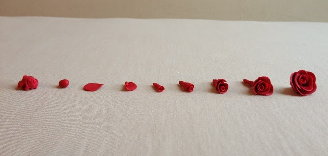 Букет из полимерной глины-как делать розу