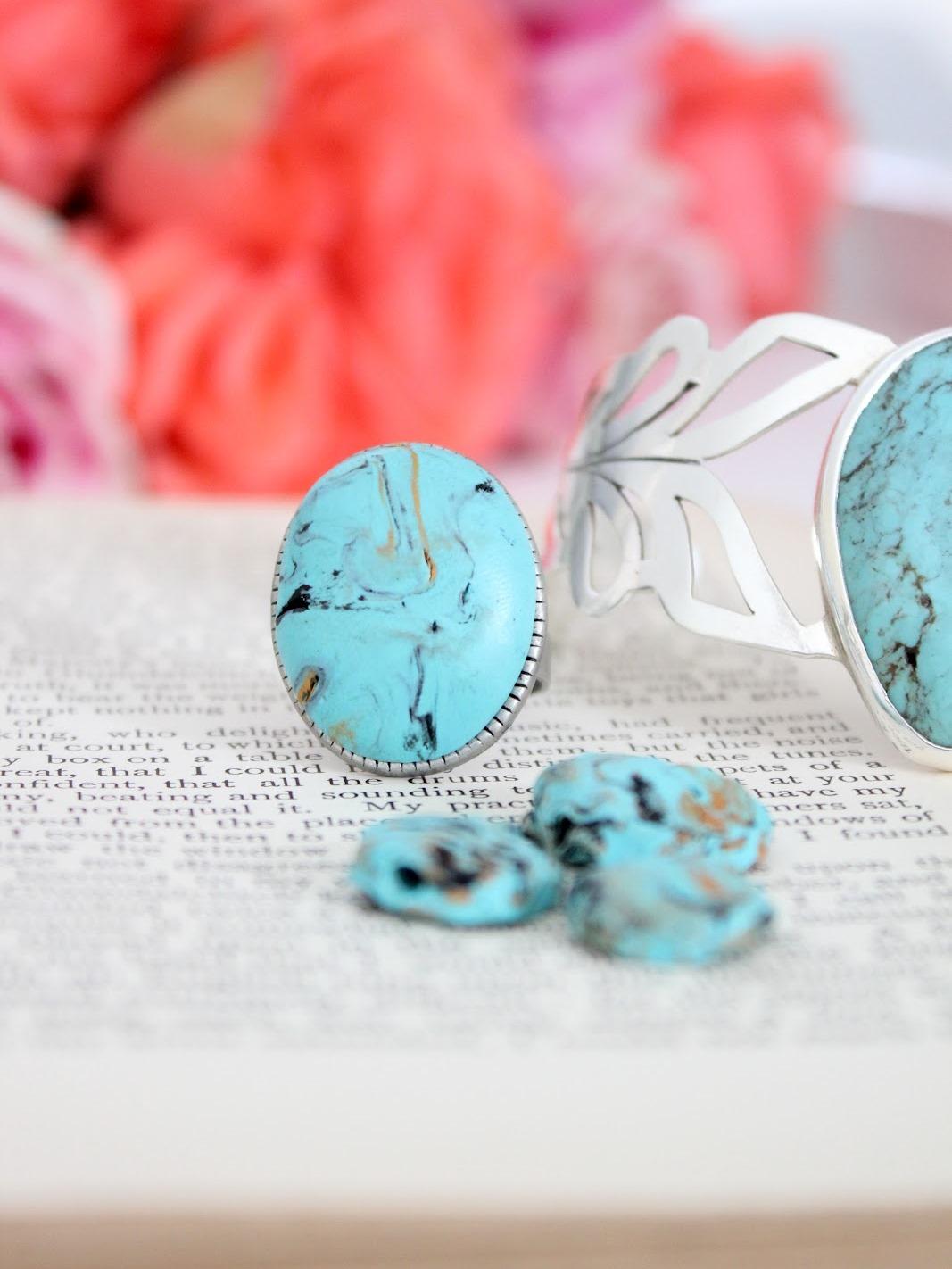 Бусины из полимерной глины-кольцо