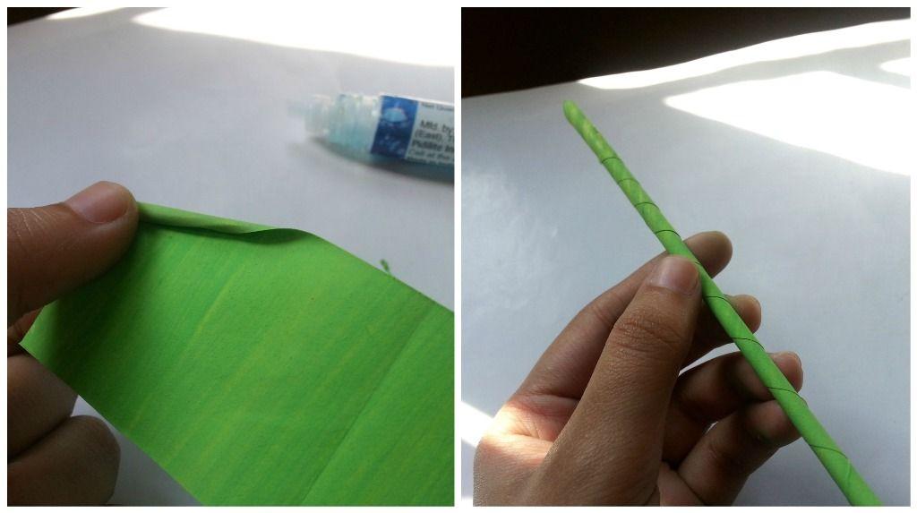 Гиацинты из бумаги-скручиваем стебель