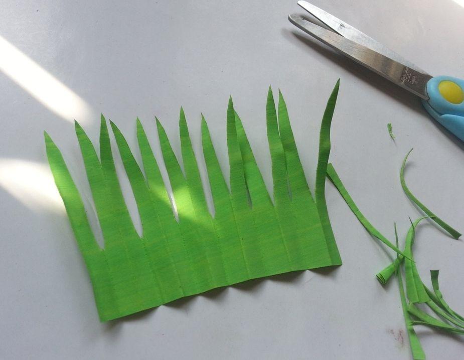 Гиацинты из бумаги-листья готовы