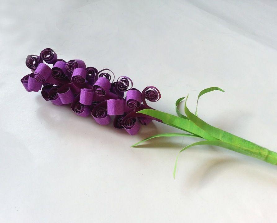 Гиацинты из бумаги-цветок готов