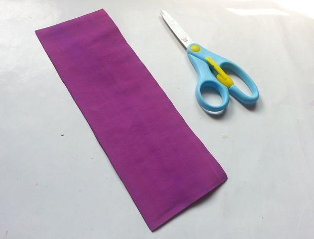 Гиацинты из бумаги-вырезаем прямоугольник
