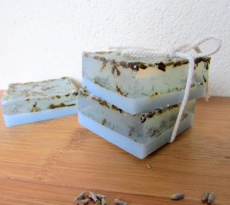 Мыло с лавандой своим руками