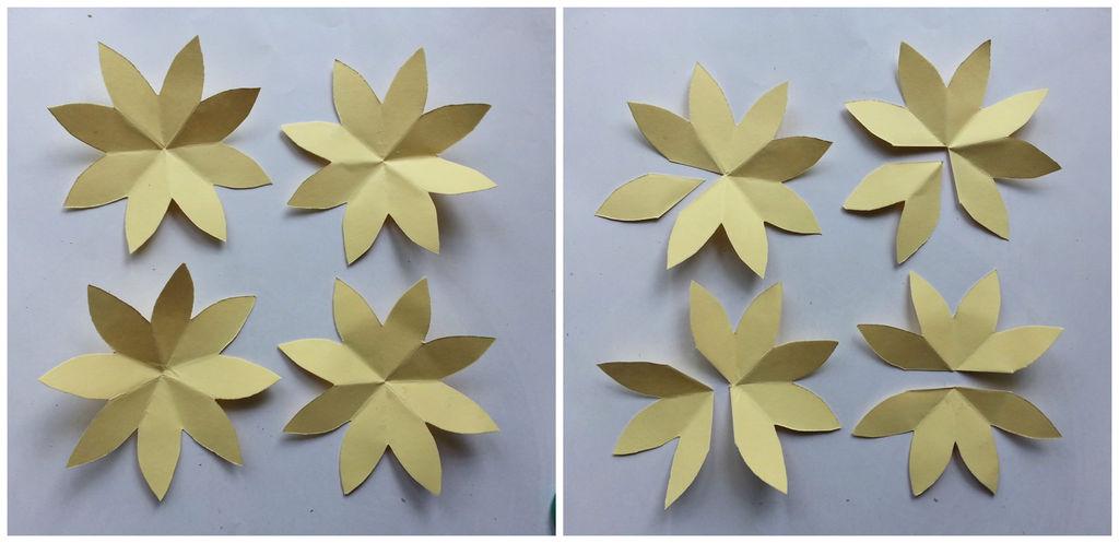 Камелии из бумаги-вырезаем лепестки