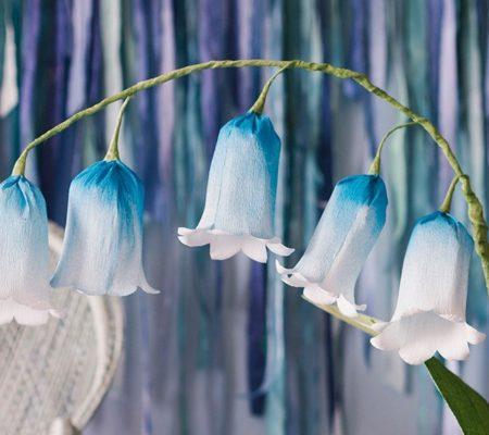 колокольчики из бумаги голубые