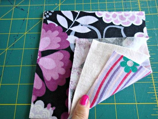 Складываем детали лоскутного одеяла