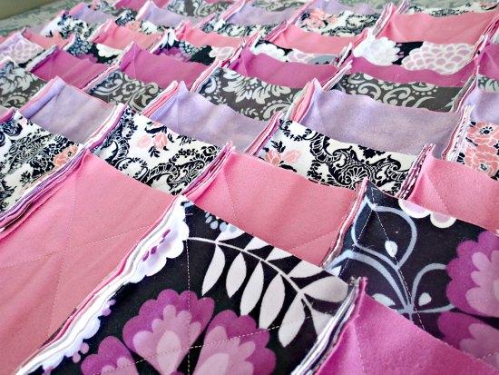 Лоскутное фланелевое одеяло-9