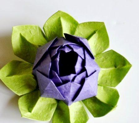 лотос оригами своими руками