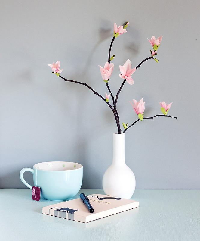 Магнолии из бумаги розовые