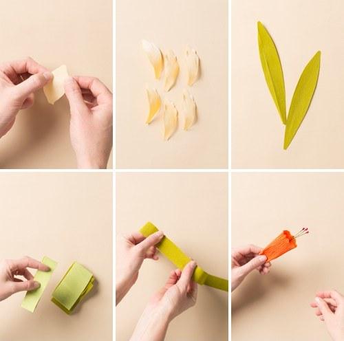 Нарцисс из бумаги-формируем детали