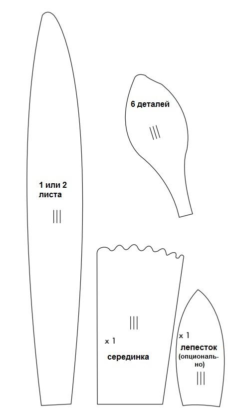 Нарцисс из бумаги-шаблон