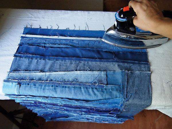Покрывало из джинсов-5