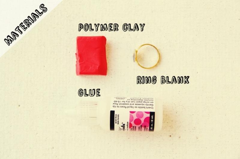 Роза из полимерной глины-материалы