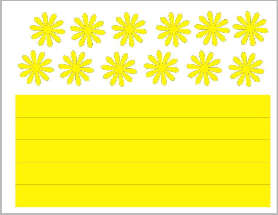 шаблон для желтых лепестков