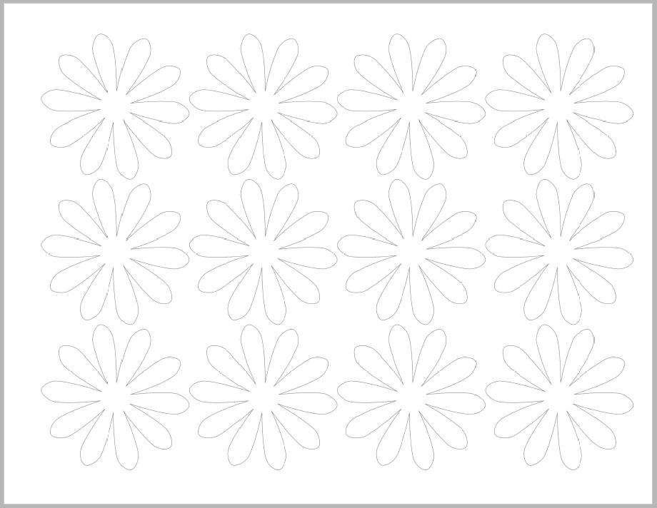 шаблон для больших белых лепестков