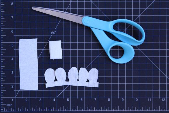 Цветущая вишня из бумаги-вырезаем лепестки