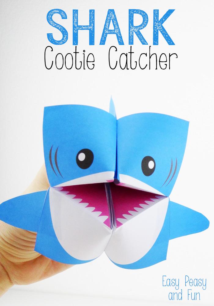 Акула оригами своими рукам