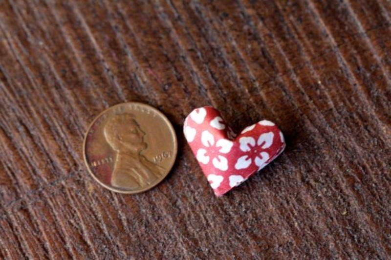 Гирлянда с сердечками-общий вид сердечка
