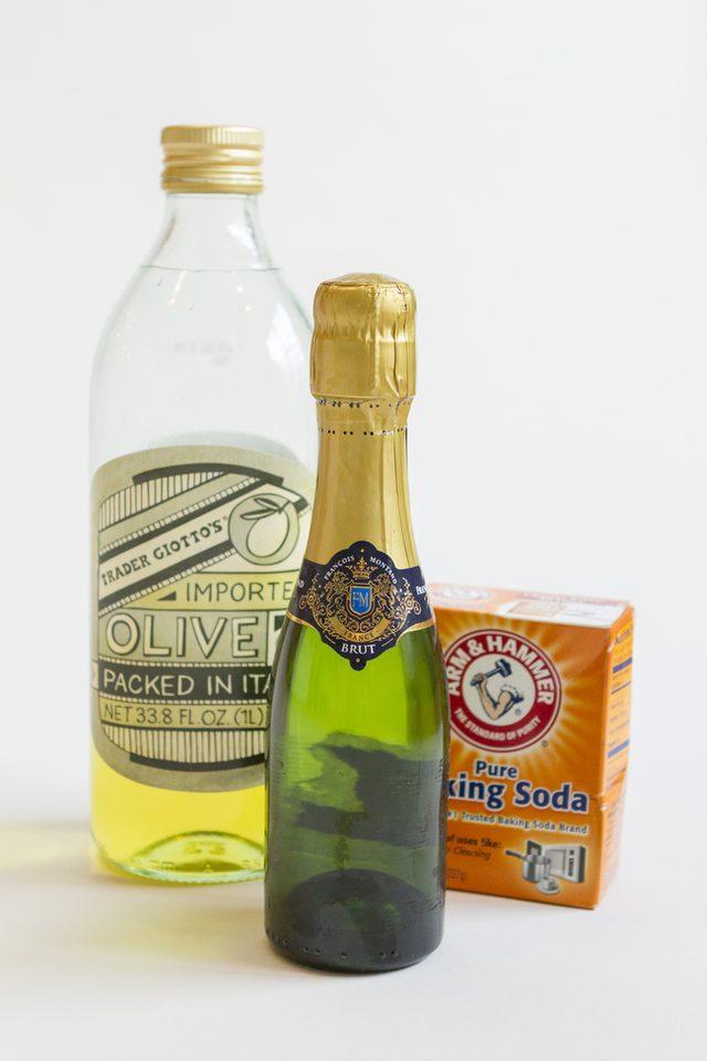 Как украсить шампанское-удалите этикетку