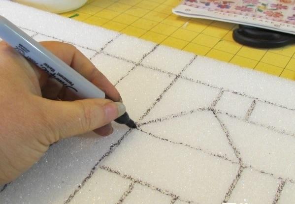 переносим рисунок на пенопласт