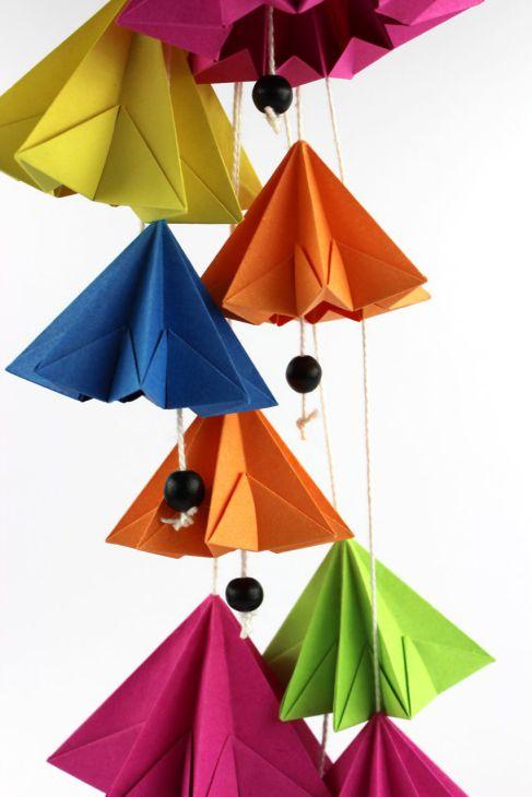 Мобиль оригами-соберите поделку