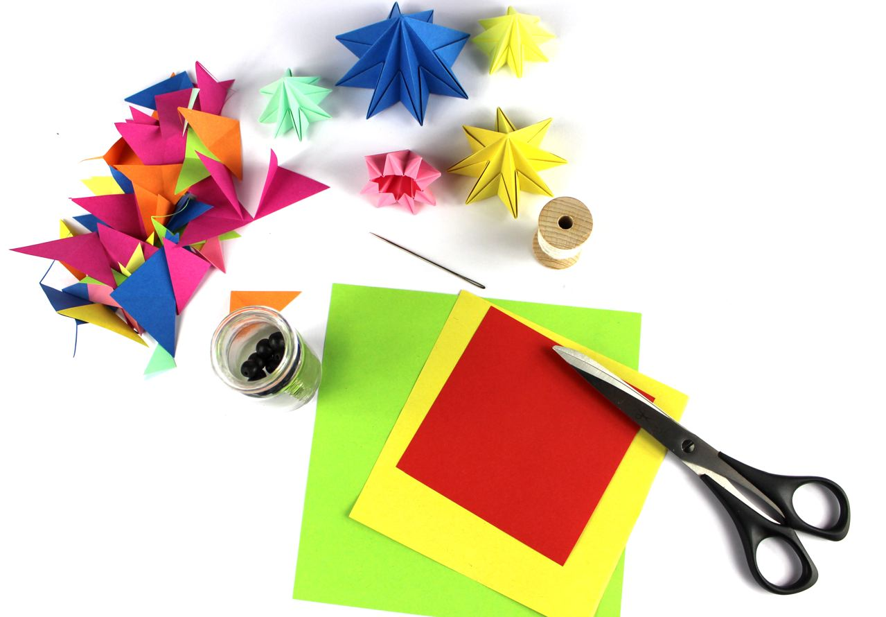 Мобиль оригами-материалы
