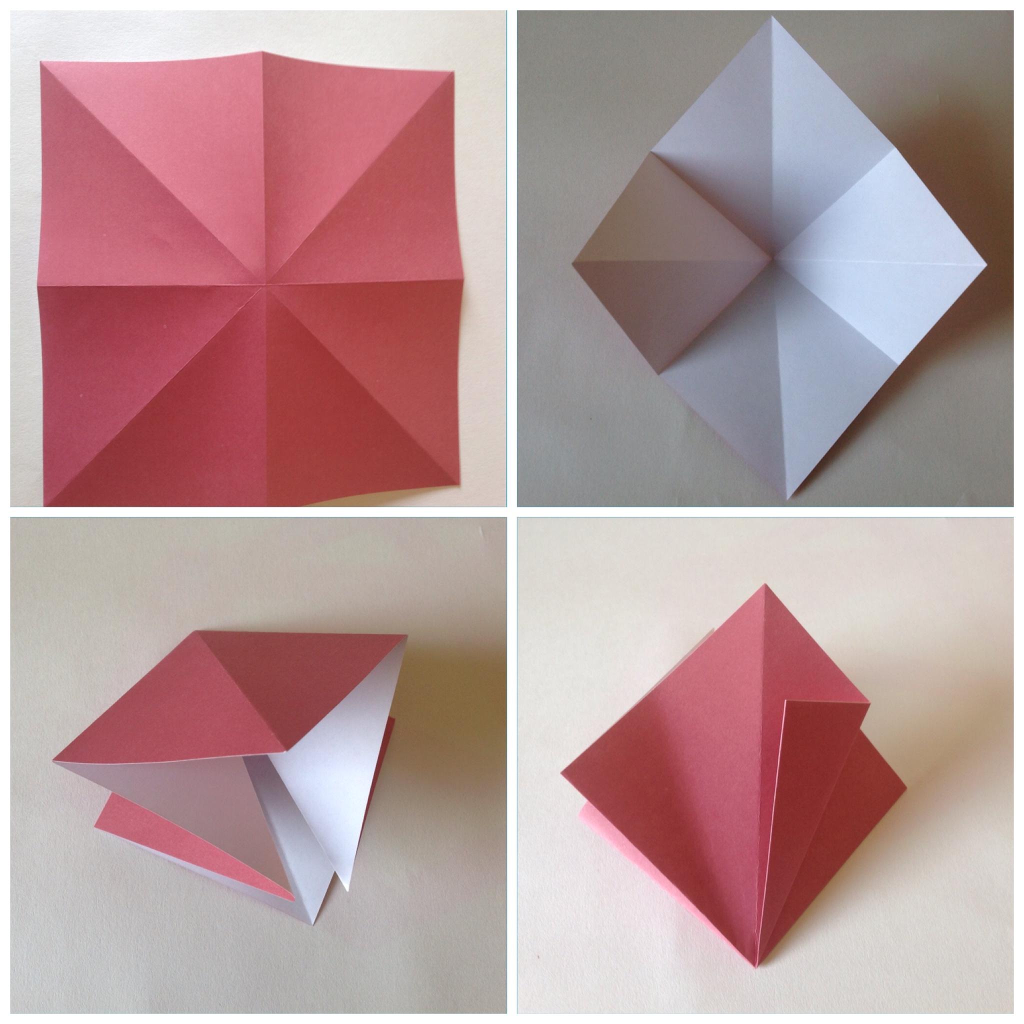 Мобиль оригами-сложите в ромб