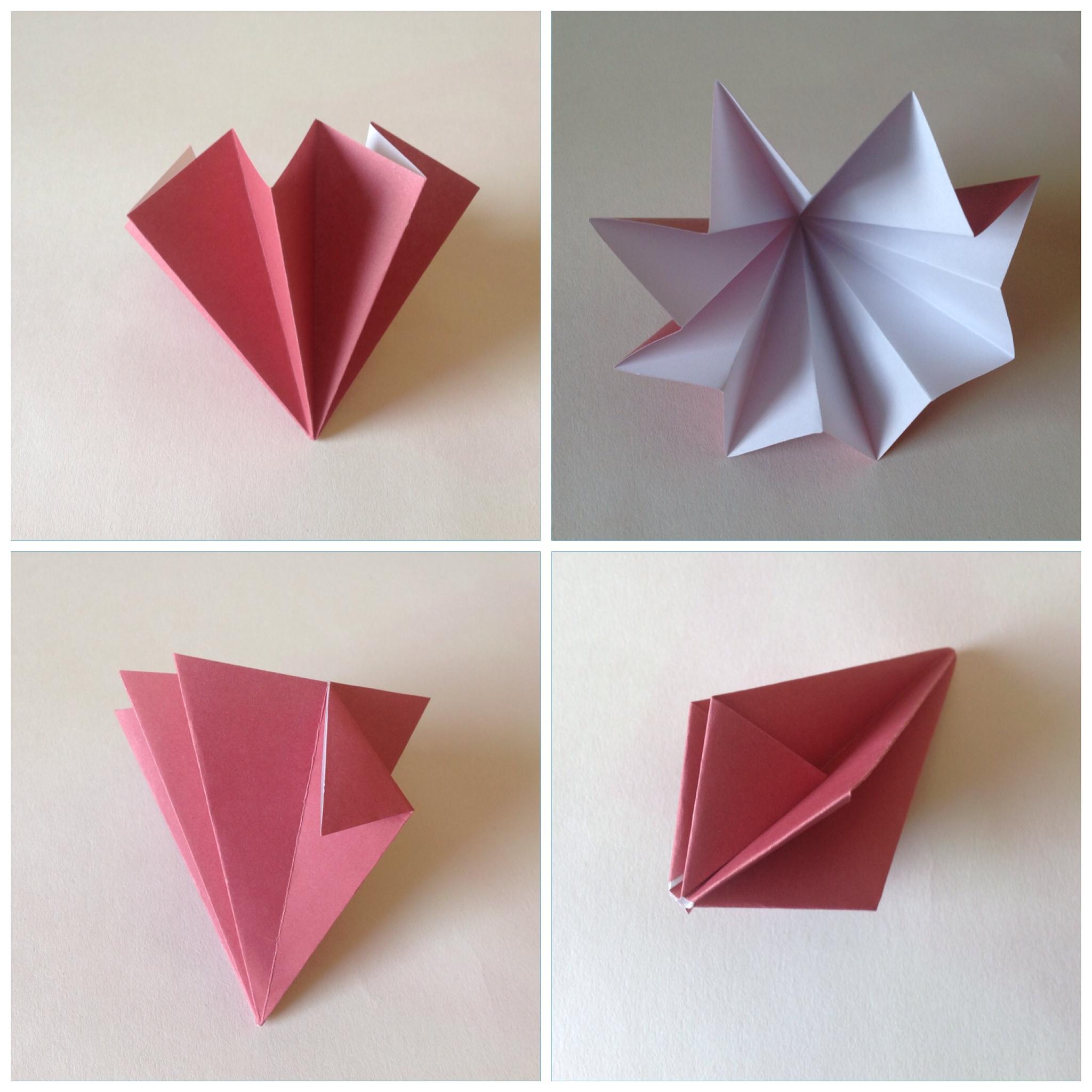 Мобиль оригами-загните нижние уголки