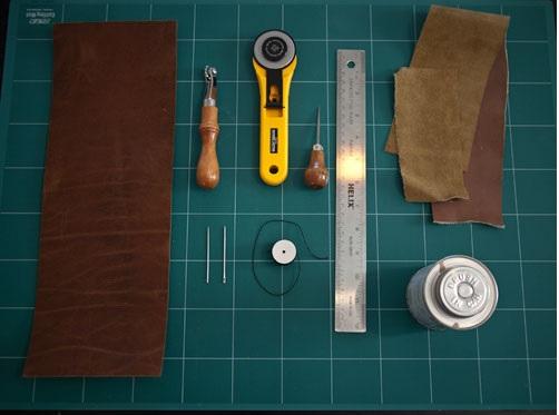 Материалы для кожаной обложки на паспорт