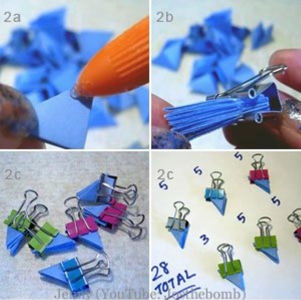 Оригами сова-склейте модули по 5 штук