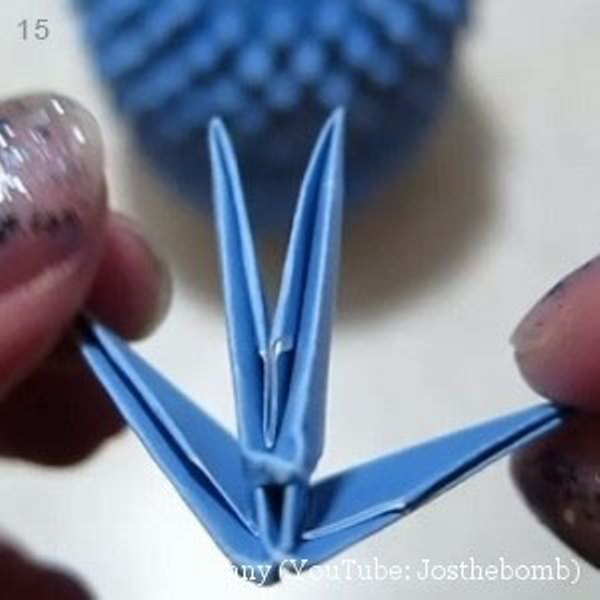 Оригами сова-сделайте хвост